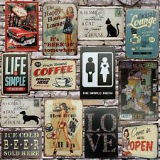 Metal Pub Wall Tavern Garage Shabby Bar Cafe Vintage Sign Tin Plaque Chic Decor