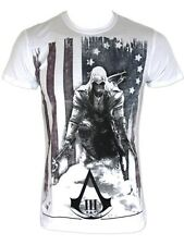 Assassins Creed III Connor Kenway White Mens T-Shirt - NEW & OFFICIAL
