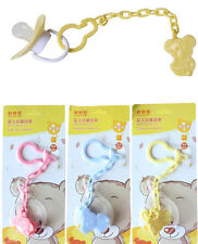 Safety Cute Baby Pacifier Chain Clip Toddler Dummy Holder Rope Support Chain