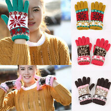 Warm Winter Snowflake Lovely woolen yarn thicking Knitted Wrist Gloves Mittens