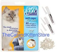 Soft Claws Nail Caps for Cats Felines Paws CLS, Small, Medium & Large USA MADE!