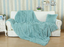 Euphoria Fluffy Faux Fur Cushions Faux Fur Blanket Decorative Bed Throws Pillows
