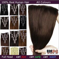 Clip In Remy Human Hair Extensions Full Head 100% Ultimate Deluxe Remy BEST F142