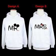 Disney Mickey Mouse Mr Minnie Mouse Mrs Couple Hoodie Sweatshirt Tops Hooded Tee
