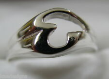 KAEDESIGNS, GENUINE, SOLID YELLOW OR ROSE OR WHITE GOLD 375 LARGE INITIAL RING E