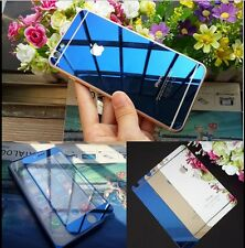 Front+ Back Mirror Effect Colour Tempered Glass Screen For iPhone 5 5S 5C 6 6