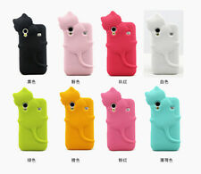 3D Hide Cat Cute Cartoon Soft Silicone Case cover for Samsung Galaxy Ace S5830