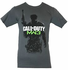 Call of Duty MW3 Mens T-Shirt -  Classic Game Logo Silhouetted Solider Image