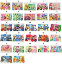 2 Pair Children's 3-5 Kids Cartoon Socks Animated Characters Kitty Barbie Disney