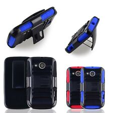Armor Holster Belt Clip Hybrid Stand On Case Cover Skin For Huawei Vision 2 II