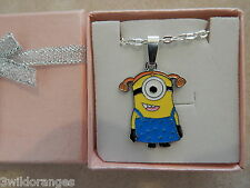 Minion Necklace Silver Plated Gift Box or Gift Bag Despicable Me