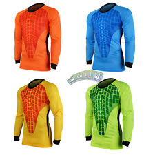 Men Football Goalkeeper Goalie Soccer Keeper Foam Padded Jersey Top Blouse Shirt