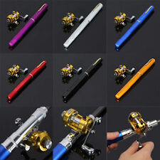 6001 Mini Portable Telescopic Pocket Pen Fishing Rod Aluminium Alloy Pole Reel