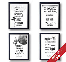A3 or A4 Size * HARRY POTTER Quote Posters Wall Art Modern Black and White Print