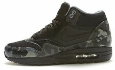 Nike Air Max 1 Mid FB Camo Leather Trainers in Black  685192 001