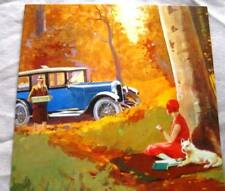 ART DECO/VINTAGE GREETING CARDS - BIRTHDAY/DINNER PARTY/CLASSIC CARS