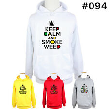 KEEP CALM AND SMOKE WEED jumper Hoodie Men's Boy's Lady's Sweatshirt Hoody Tops