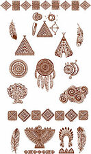 "ABC Designs 20 Tribal Symbols  Machine Embroidery Designs SET 5""x7"" hoop"