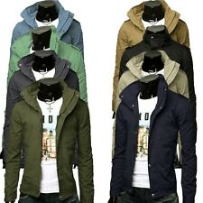 Fashion Hot Men's Military Style Jacket Overcoat Men's Long Collar Casual Coat