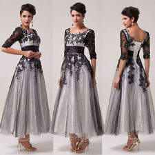 HOT RETRO Masquerade Wedding Bridesmaid Ball Gown Evening Prom Party Lace Dress