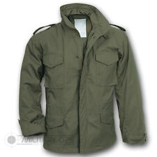 US Military Style M-65 Combat Field Jacket, Army Vietnam M65, Olive Green
