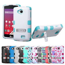 LG Optimus F60 Tribute Transpyre Hybrid Armor Case w/Stand Cover LS660 MS395