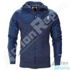 New Mens Crosshatch Full Zip Pockets Fleece Hoody