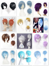 "New 12"" Curly 46 Colors MSN Short Heat Resistent Cos Christmas Wigs+Free Gift"