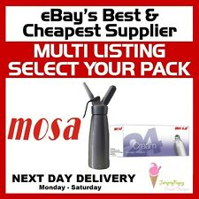 MOSA Cream Chargers NOS N2O 8g Best Quality Nitrous Oxide Whipper FREE DELIVERY