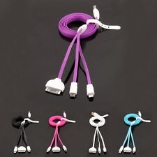3ft 3 in 1 USB Sync Charger Charging cable for iphone 6/5/4S Galaxy Tab HTC Sony