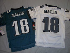 JEREMY MACLIN #18 PHILADELPHIA EAGLES YOUTH REEBOK NFL REPLICA JERSEY FREE SHIP!