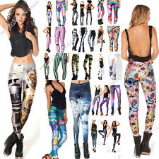 Women S-M,L-XL YOGA GYM Digital Print Stylish Space Skinny Galaxy Leggings Pants