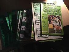 1980's Mixed Celtic Home Games Football Programmes