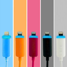 Intelligent LED Light USB Charger Data Sync Cable for iPhone 5 5C 5S Touch5 iPod