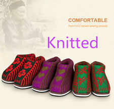 Knit Sweater Cotton shoes Warm Winter Booties House Slippers Woven Winter Boots