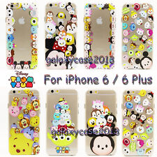 0.3mm Thin Disney Cartoon Minions Clear Rubber Soft Case For iPhone 6 / 6 Plus
