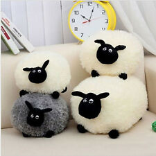 Cute White/Gray Sheep Shape Pillows Soft Plush Toys Kids Baby Doll Toy Gift 21cm