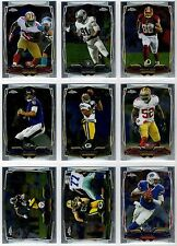 2014 Topps Chrome Football Base, Rookie, & Stars #37-81 You Pick Finish Your Set