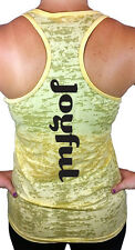 Joyful Burnout Racerback Tank Top, Yoga Workout Shirts & Tops
