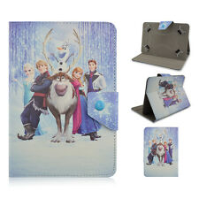 "Universal 7"" 8"" 10"" inch tablet case Frozen Family PU Leather Stand Cover design"