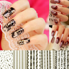 1 Sheet 3D Lace Design Nail Art Manicure Tips Sticker Decal DIY Decoration