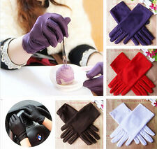 XICA 9 Colors Evening Party Wedding Formal Prom Stretch Satin Gloves for Women