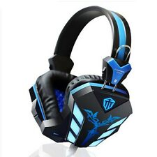 Gaming Headset Surround Stereo Headband Headphone USB 3.5mm LED Mic Notebook PC
