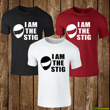 I AM THE STIG TOP GEAR mens womens unisex white t shirt top funny dope
