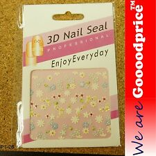 3D Nail Art Seal Beautiful Flowers Nail/Toe Stickers Pack Party&Ladies Gift 1-26