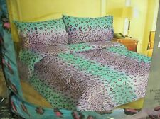 BED IN A BAG - Neon Leopard Print - Comforter & Sheet set - BED SET - T, F, Q
