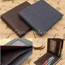 Thin Men's Leather Bifold flip Wallet ID Credit Card Holder Purse Pockets Gifts