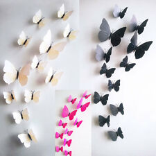 3D Butterfly Design Art Decal Wall Stickers Home Decor Room Decorations 12pcs
