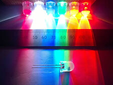 10mm High Brightness Clear Lens LED in Various Colours, Constant