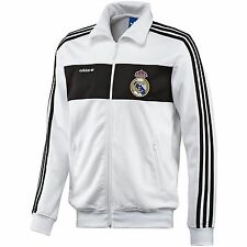 ADIDAS ORIGINALS REAL MADRID BECKENBAUER JACKET 2013/14 LFP LA LIGA SPAIN WHITE.